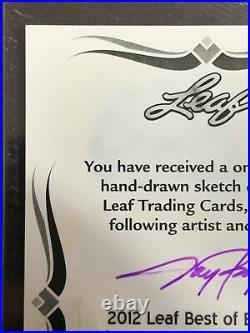 1/1 One Of One 2012 Leaf Josh Gibson Sketch Card Artist Auto 1/1