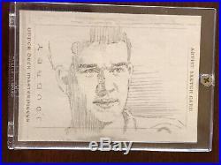 2008-09 Upper Deck UD Masterpieces Artist Sketch Card Bobby Orr 1/1 Joudrey SK23