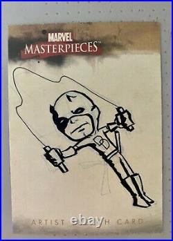 2008 Marvel Masterpieces Daredevil Artist Sketch Card 1/1 Hand-Drawn Marvel Art