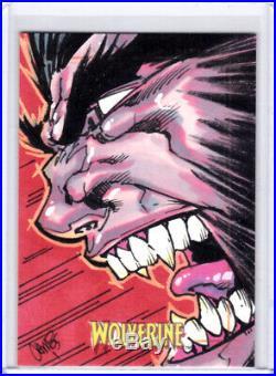 2009 Marvel X-Men Origins Wolverine Daniel Campos Wolverine Artist Sketch Card