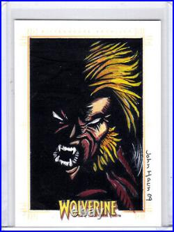 2009 Marvel X-Men Origins Wolverine John Haun Sabretooth Artist Sketch Card 1/1