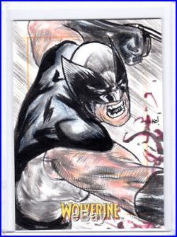 2009 Marvel X-Men Origins Wolverine Keith O'malley Wolverine Artist Sketch Card