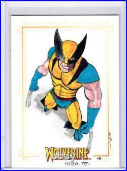 2009 Marvel X-Men Origins Wolverine Steven Miller Wolverine Artist Sketch Card