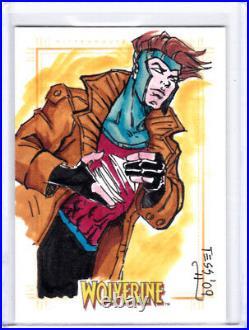 2009 Marvel X-Men Origins Wolverine Tess Fowler Gambit Artist Sketch Card 1/1