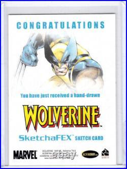 2009 Marvel X-Men Origins Wolverine Tess Fowler Logan Artist Sketch Card 1/1
