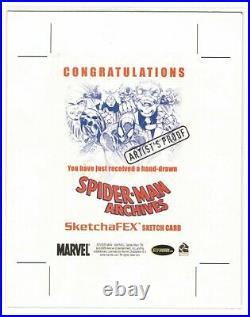 2009 Rittenhouse 1/1 Deadpool Spider-Man Sketch Card Artist's Proof Jason Sobol