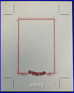 2009 Spider-man Archives 4 x 5 BLANK Uncut Artist Proof Sketch Card