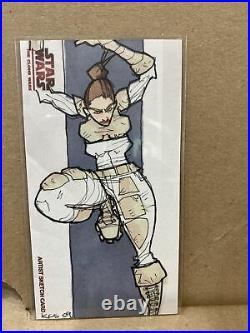 2009 Topps Artist Proof Sketch Card Star Wars Clone Wars Kate Glasheen Padme