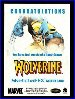 2009 X-Men Origins Wolverine Artist Sketch Trading Card by John Haun