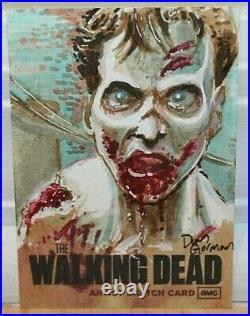2011 Cryptozoic The Walking Dead Season 1 1/1 Artist Proof Sketch Card 1/1