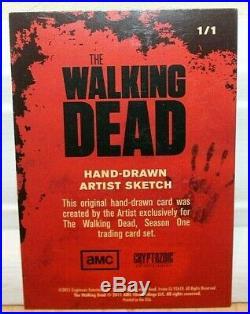 2011 Cryptozoic The Walking Dead Season 1 Artist Sketch Card 1/1! Dan Gorman