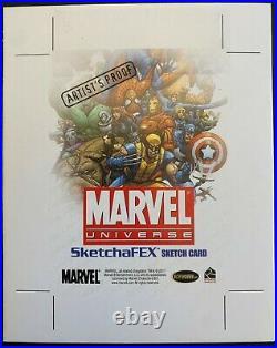2011 Marvel Universe 4 x 5 BLANK Uncut Artist Proof Sketch Card