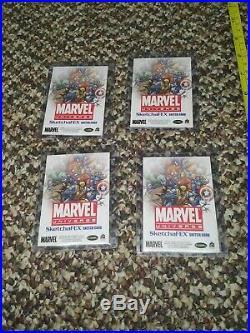 2011 Marvel Universe Artist Sketch Card Wolverine puzzle sketch card