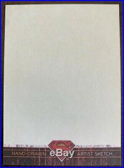 2012 DC Comics Superman The Legend BLANK Artist Proof Sketch Card