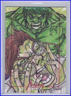 2012 Marvel Greatest Heroes Artist Sketch Card Juan Fontanez Hulk Dr Banner 1/1