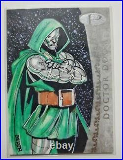 2012 Marvel Premier Doctor Doom Artist Sketch Card Bnfer