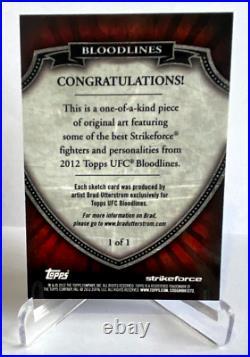 2012 Topps UFC Bloodlines Sketch Card Miesha Tate 1/1 Brad Utterstorm Artist