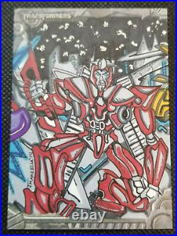 2013 Enterplay Optimum Collection Transformers 5 Card Artist Proof Sketch Set