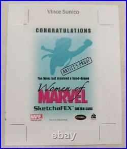 2013 Rittenhouse Women of Marvel Artist's Proof 1/1 Vince Sunico AP Sketch Card