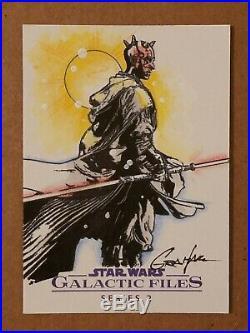 2013 Star Wars 1/1 Sketch Card Darth Maul by artist Kevin Graham