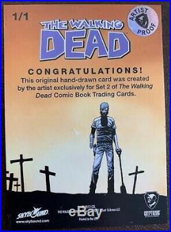 2013 The Walking Dead Season Two BLANK Artist Proof Sketch Card