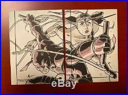 2013 Ud Marvel Fleer Retro Artist Sketch Card Daredevil Elektra 1/1