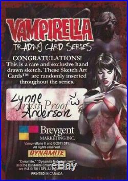 2014 Breygent Vampirella Sketch Card Artist Proof By Lynne Anderson