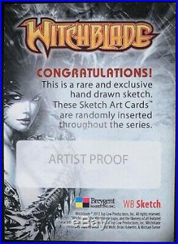 2014 Breygent Witchblade BLANK Artist Proof Sketch Card