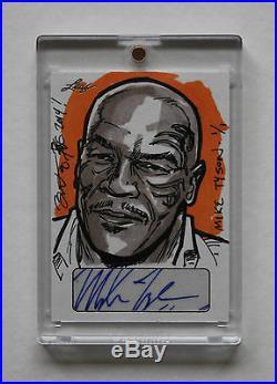 2014 Leaf Masterworks Pop Century Mike Tyson Autograph Artist Sketch Card 1/1