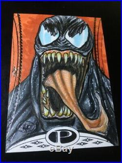 2014 Marvel Premier Sketch Card AP Artist Proof 1/1 VENOM