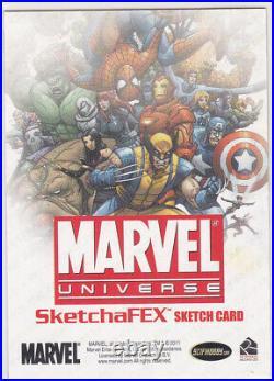 2014 Marvel Universe Artist Sketch Card Eric McConnell Rocket Raccoon 1/1