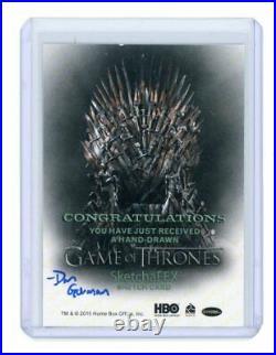2015 Game of Thrones Sketchafex Artist Sketch Card by Dan Gorman