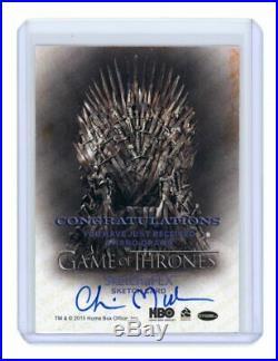 2015 Game of Thrones White Walker Chris Meeks Sketchafex Artist Sketch Card