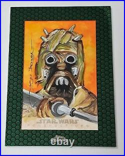 2015 Topps Star Wars Chrome Perspectives 1/1 Sketch Card by Artist Jason Brower