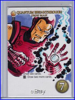 2015 UD Marvel 3-D Artist Sketch Card Jason Crosby Iron Man Avengers 1/1
