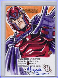 2015 UD Marvel 3-D Artist Sketch Card Michael Locoduck Duron Magneto X-Men 1/1