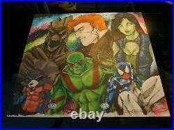 2016 Marvel Masterpieces Puzzle Sketch 6 Card AP Artist Proof