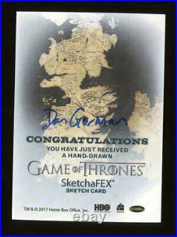 2017 Game of Thrones Dan Gorman Sketchafex Artist Sketch Card