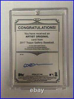 2017 Michael Conforto Topps Gallery Artist Original Sketch 1/1