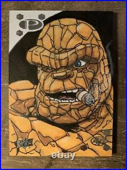 2017 Upperdeck Marvel Premiere Sketch Card The Thing Artist Dave Ryan #ed 1/1