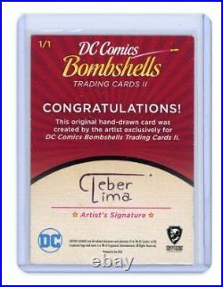 2018 DC Bombshells Series II Cleber Lima Batgirls Bette Kane Artist Sketch Card