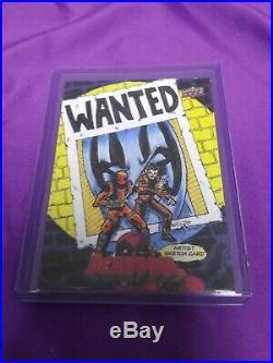 2018 Marvel DEADPOOL Artist Sketch Card Deadpool and Wolverine