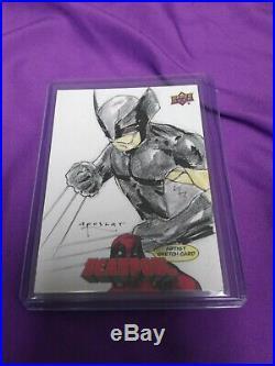 2018 Marvel DEADPOOL Artist Sketch Card Wolverine