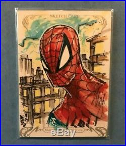 2018 Marvel Masterpieces Artist Sketch Card Spider-Man by Mayonnaise & Bread 1/1