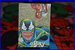 2018 Marvel Masterpieces Dual Artist Sketch Card of Spider-Man & Venom CF18