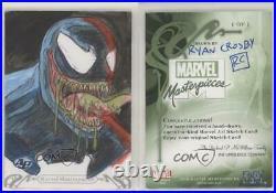 2018 Marvel Masterpieces Sketch Cards Artist Proof 1/1 Ryan Crosby ob9