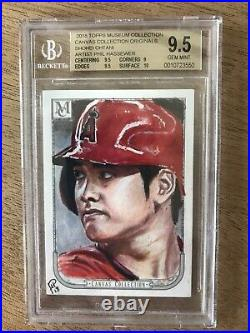 2018 Topps Canvas Collection Shohei Ohtani 1/1 RC Artist Sketch Card BGS 9.5