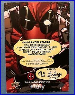 2018 Upper Deck Marvel Deadpool Artist Sketch Card of Gwenpool by Mai Irving 1/1