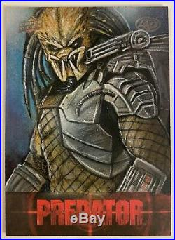 2018 Upper Deck Predator Artist Proof Sketch Card By Mohammad Jilani VERY RARE