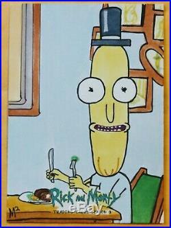 2019 Cryptozoic Rick & Morty Season 3 Artist Sketch Card Signed MICHAEL MUNSHAW